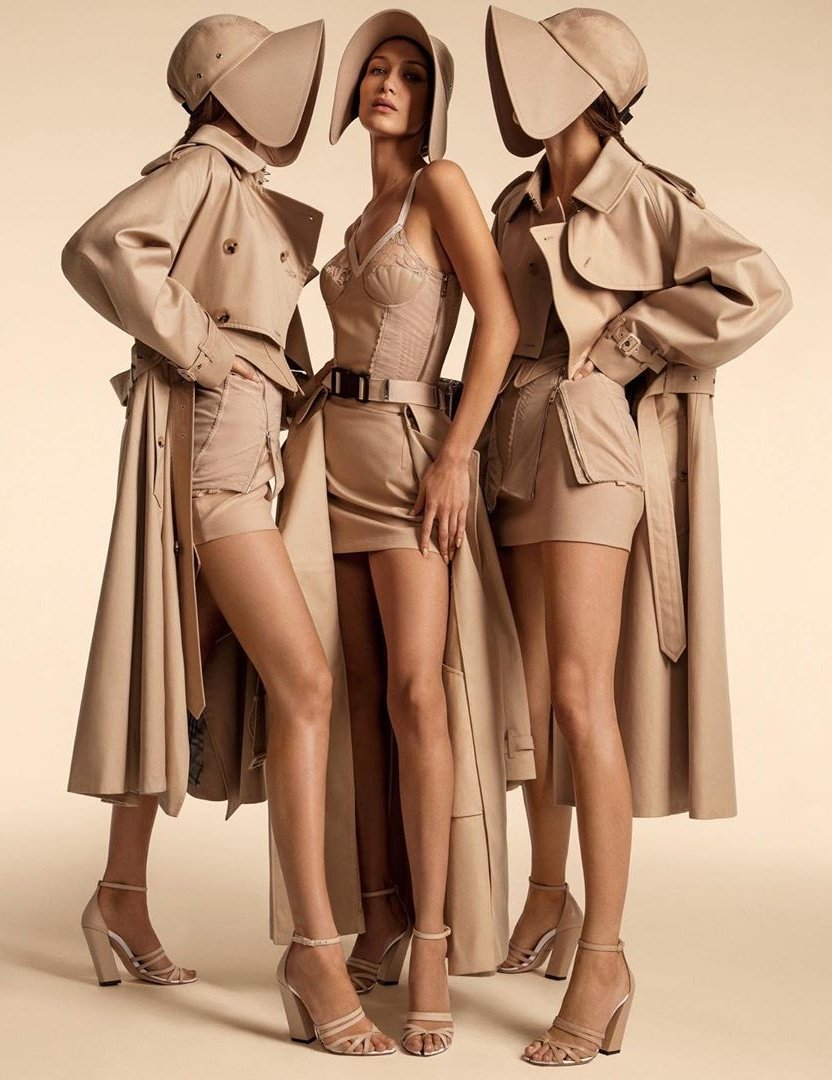 Inez and Vinoodh Capture Bella Hadid, Kendall Jenner and More In Burberry's SS20 Campaign