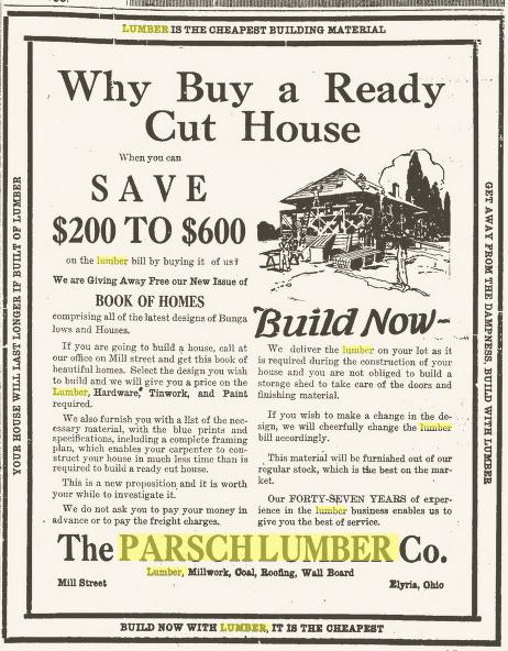 parsch lumber elyria chronicle telegram may 2 1921