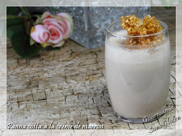 Panna cotta sans lactose coco crème de marron