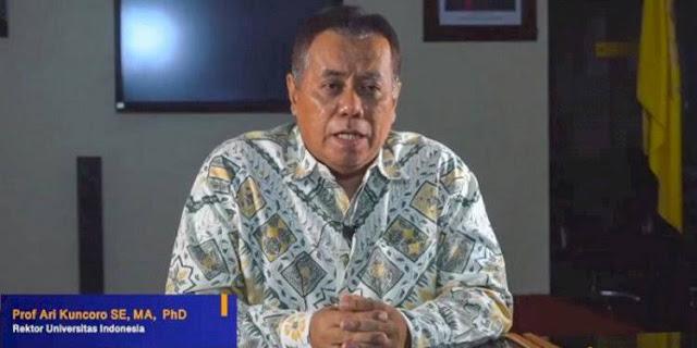 Rektor UI Ari Kuncoro Akhirnya Mundur dari Posisi Wakil Komisaris Utama BRI