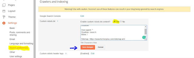 How to add Custom Robots.txt File Blogger?