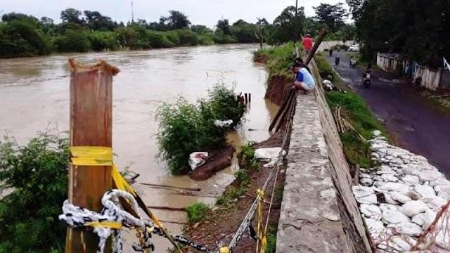 Tanggul Kali Cisanggarung di Pekauman Losari Brebes Kritis, Banjir Menunggu Waktu