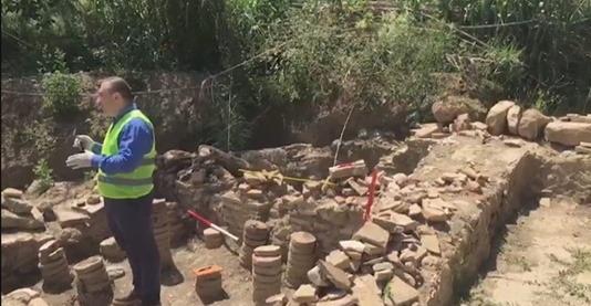 Ruins of an Ancient Roman Bath found in Rrasa