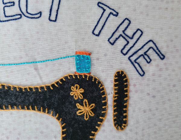 Respect the Power Tool embroidery | DevotedQuilter.com