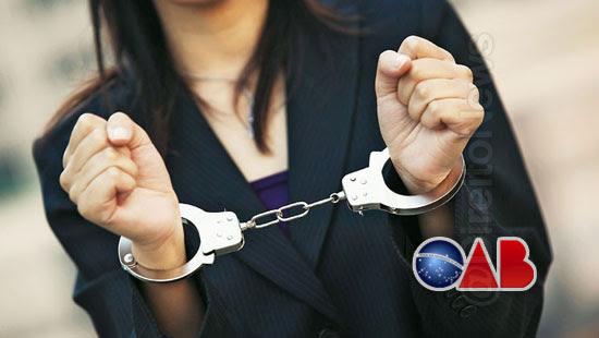 advogada presa desacato detento medica direito