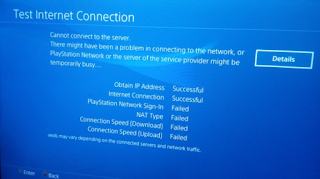 PS4 exploit - Test internet connection