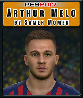 PES 2017 Faces Arthur Melo by Sameh Momen