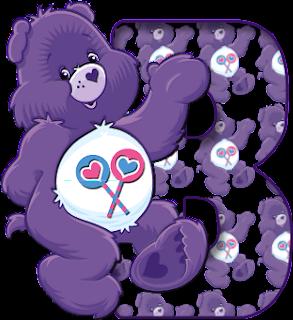 Letra b del abecedario de osos amorosos para imprimir
