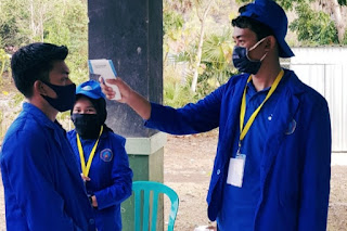 KKN di Tengah Pandemi, Mahasiswa STIE Bima Fokus Berikan Edukasi Tentang Covid19