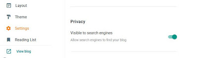 blogger privacy setting