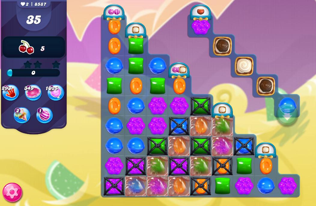 Candy Crush Saga level 8587