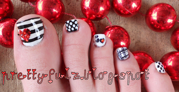 Valentine Pedicure Designs