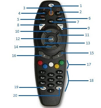 Dstv remote Control manual