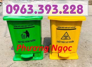 Thùng rác y tế 15L đạp chân, thùng rác nhựa, thùng rác y tế, thùng rác đạp chân  2220500ddc953acb6384