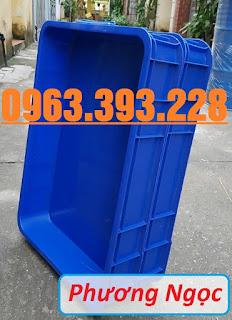 Thùng nhựa đặc HS025, thùng nhựa nguyên sinh có nắp, thùng đựng đồ cơ khí 4b14b4ceee3d0c63552c