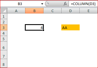Column Function with Reference