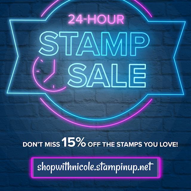 stampin' up!, stamp sale, flash sale, craft sale, stamping, scrapbooking, discounted stamps, nicole steele, the joyful stamper, independent stampin' up! demonstrator from Pittsburgh PA
