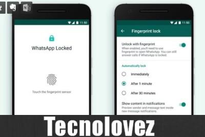 Whatsapp Locked - E' arrivata finalmente lo sblocco con l'impronta digitale