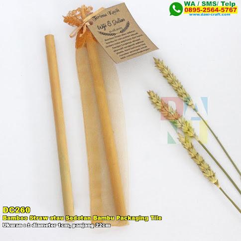 Bamboo Straw Atau Sedotan Bambu Packaging Tile