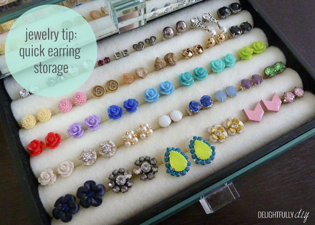 Quick Earring Storage | Delightfully DIY | Bloglovin