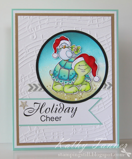 Christmas turtle and dove Whimsy Stamps