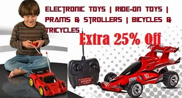 Christmas Offer: Upto 70% Off + Extra 25% Off on Electronic Toys | Ride-On Toys | Prams & Strollers | Bicycles & Tricycles @ Snapdeal (Valid for Today Only)