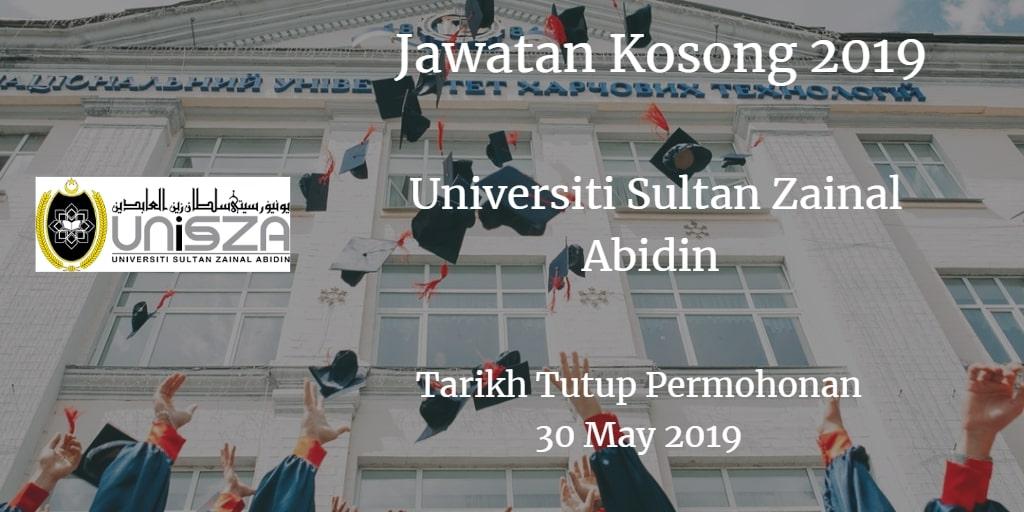 Jawatan Kosong UniSZA 30 May 2019