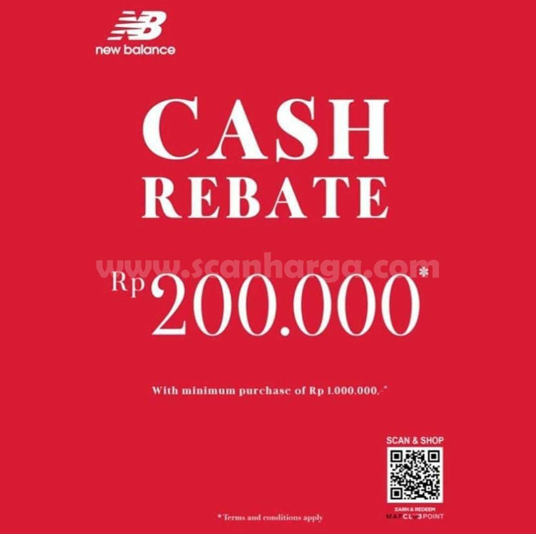 Promo NEW BALANCE WEEKEND SPECIAL! CASH REBATE hingga Rp 200.000