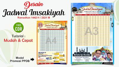 Desain Jadwal Imsakiyah 1442 H