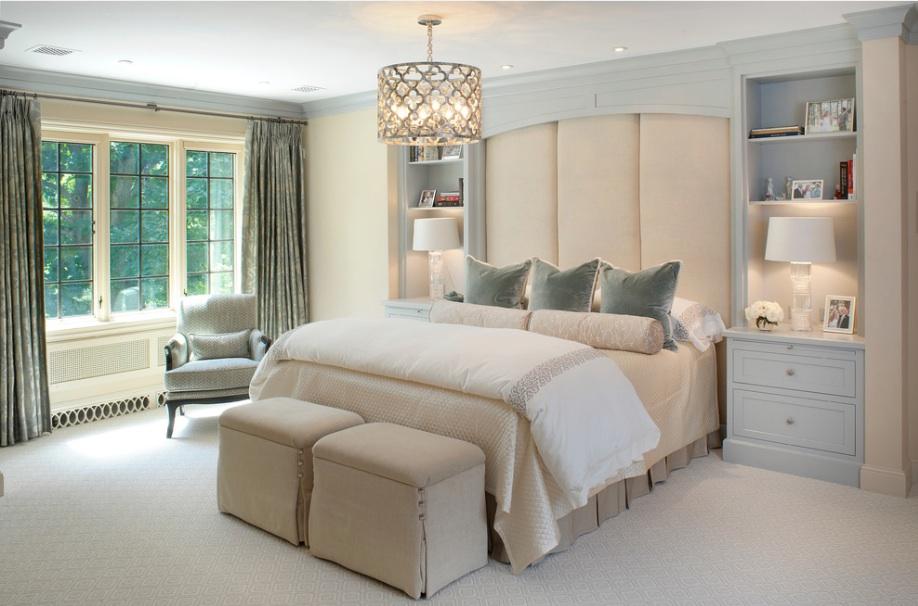 traditional bedroom shelves