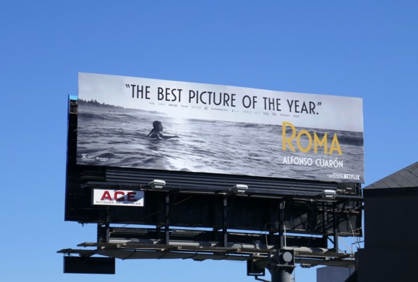 Roma best picture nominee billboard