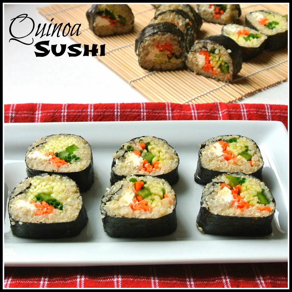 Mom, What's For Dinner?: Quinoa Veggie Sushi