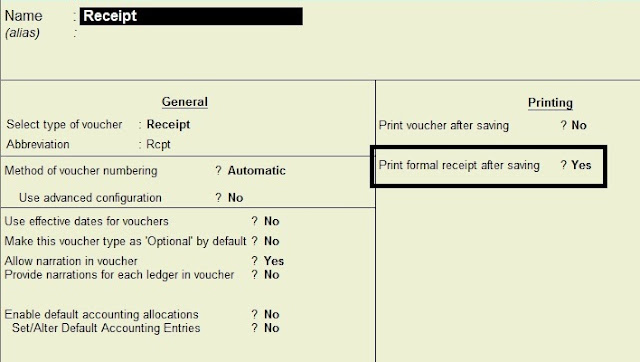 How to make a receipt voucher in Tally Tally Knowledge