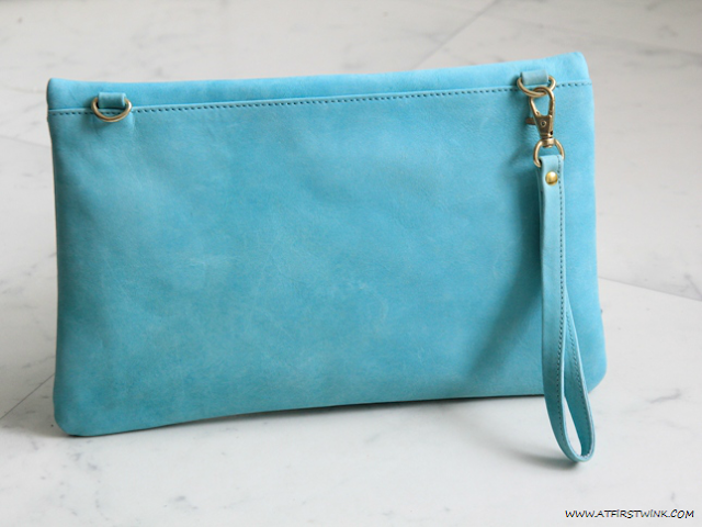 My Summer 2013 bag: Fab. Beatrix clutch - aqua short strap