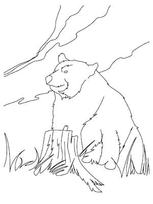 Gambar mewarnai beruang untuk anak - 2