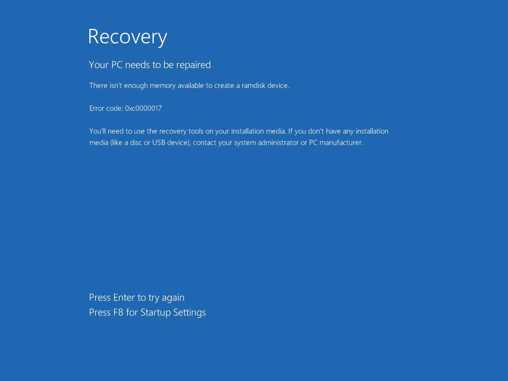 Errore 0xc0000017 Aggiornamento A Windows 10 Le Soluzioni