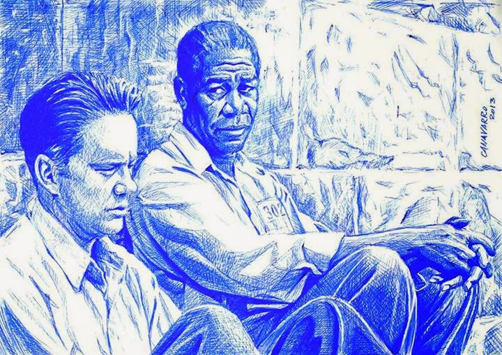 11-The-Shawshank-Redemption-Nestor-Canavarro-Celebrity-Portraits-Animated-Drawings-www-designstack-co