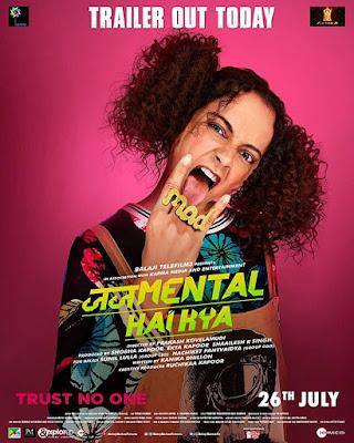 Poster Judgementall Hai Kya 2019 Hindi HD 300Mb