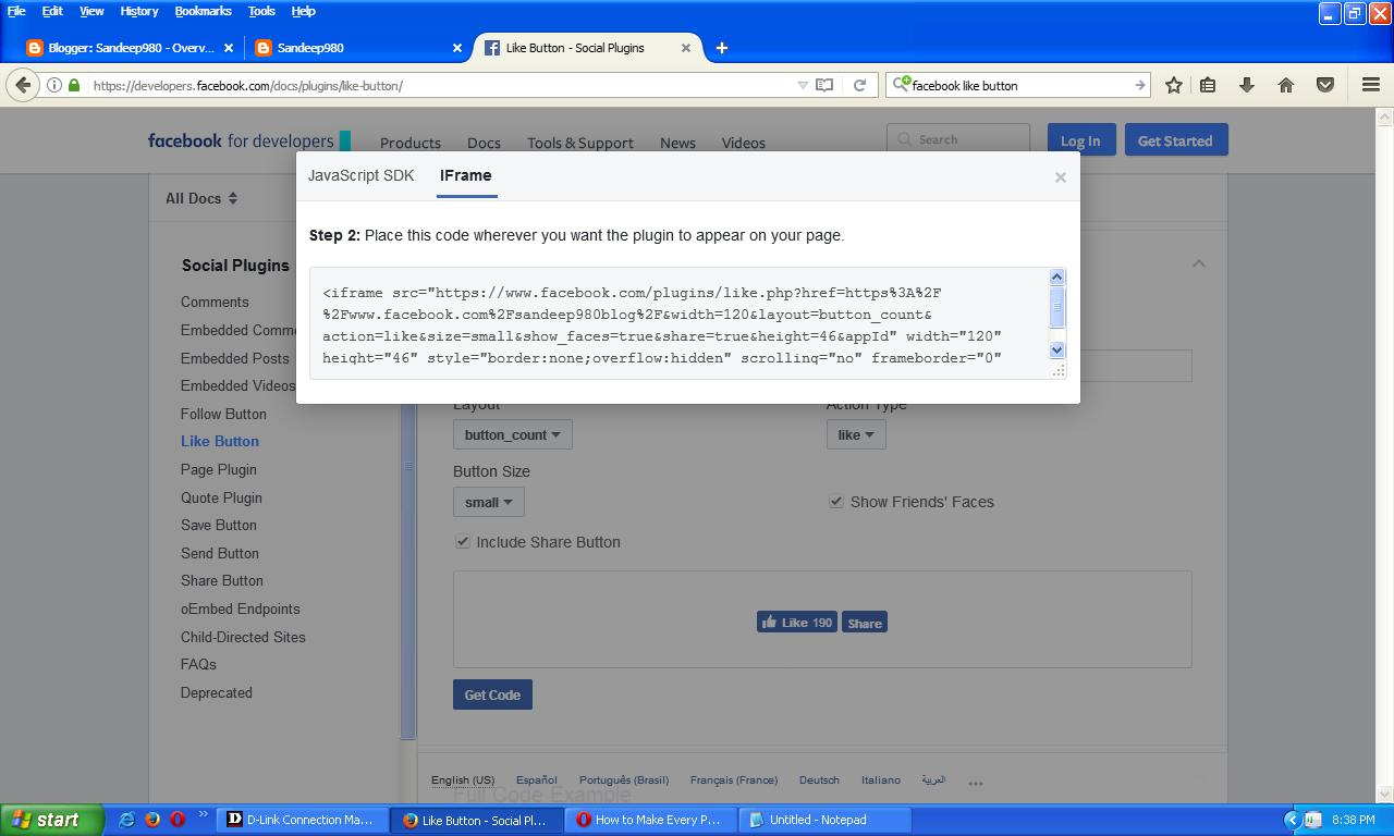 how to create facebook like button