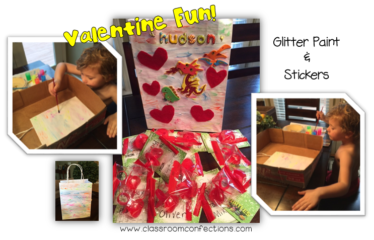 Decorating Valentine Bags