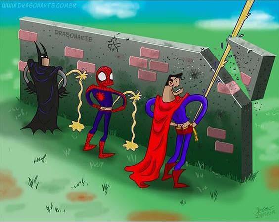 22 Funny Comics of  Video Game, Cartoon and Superheros.