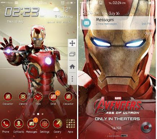 Tema Iron Man for Samsung J2