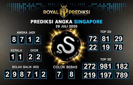 Royal Prediksi SGP Rabu 29 Juli 2020