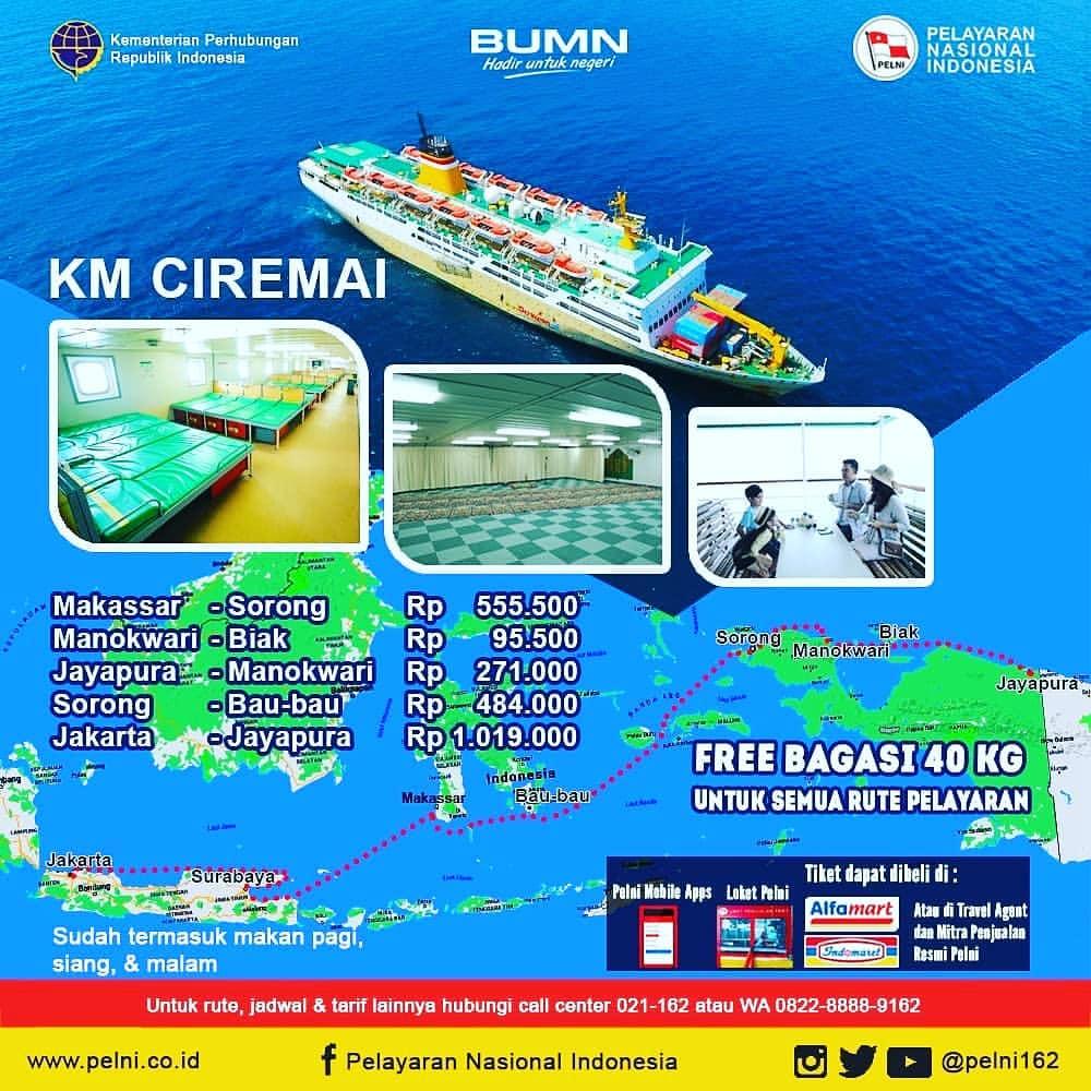 Kapal Pelni Ciremai Jadwal Harga Tiket Desember 2020