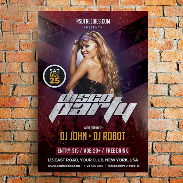 Free Party Poster Flyer Template Psd Freebies Psd