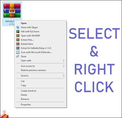 select the file