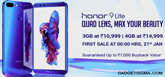 Honor 9 Lite launched in India at starting price of 10,999 onward