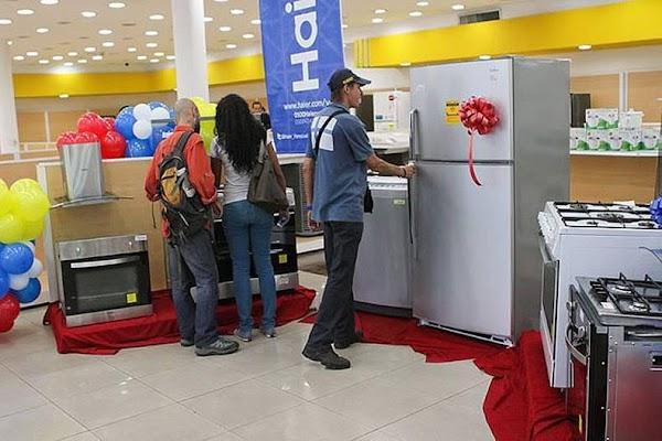 Entrega de electrodomésticos a través del sistema patria