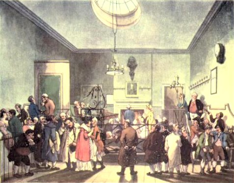 Bow Street from The Microcosm of London Vol 1 by R Ackermann and WH Pyne (1808)
