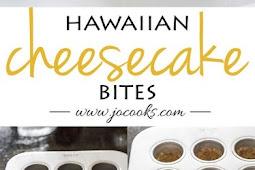 Hawaiian Cheesecake Bites